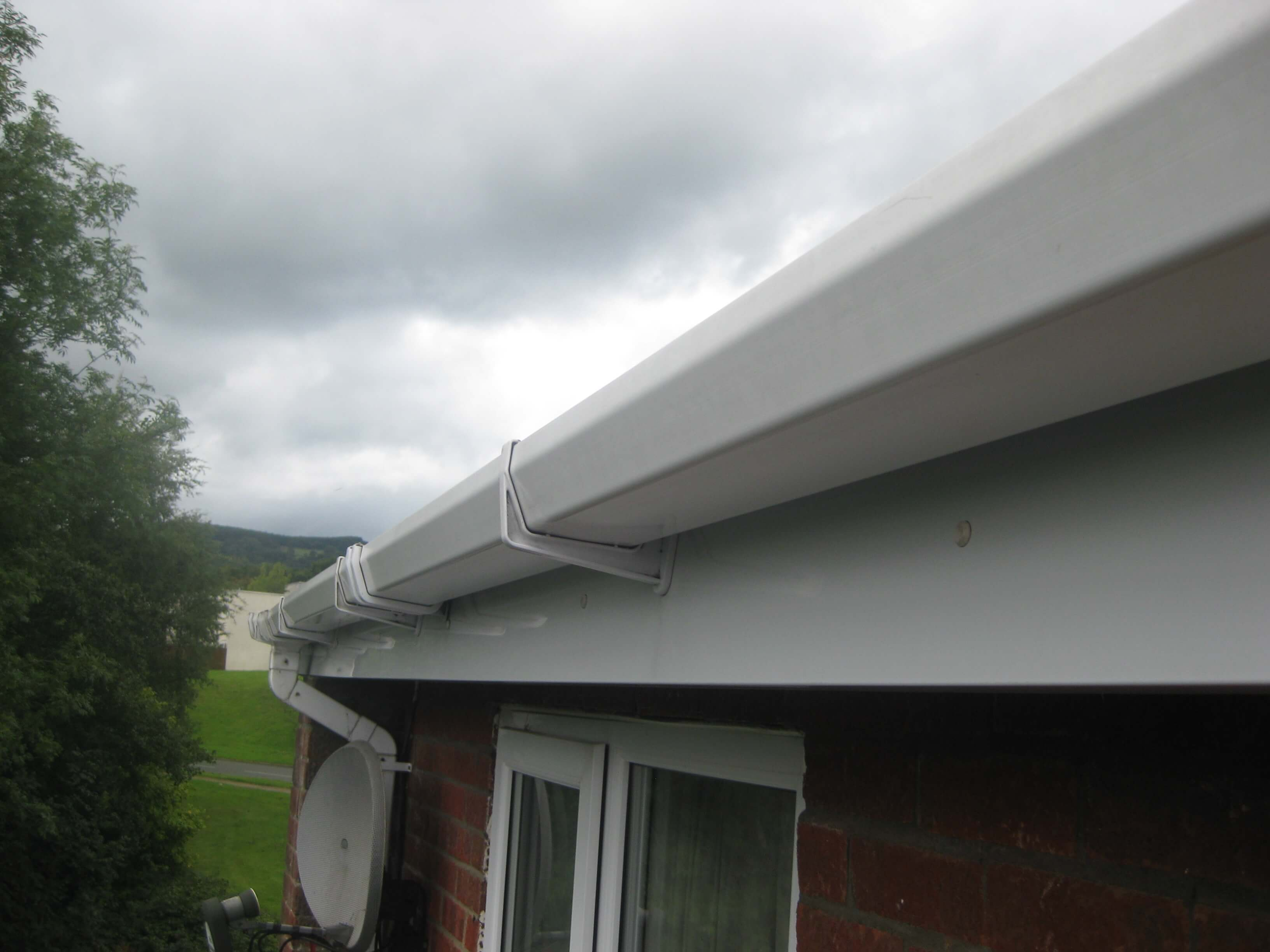 New uPVC Gutter Installation Caerphilly