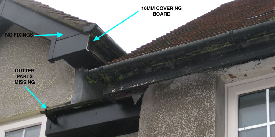 Bad roofline installation 1