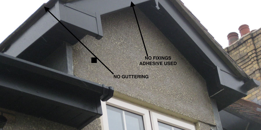 Bad roofline installation 6